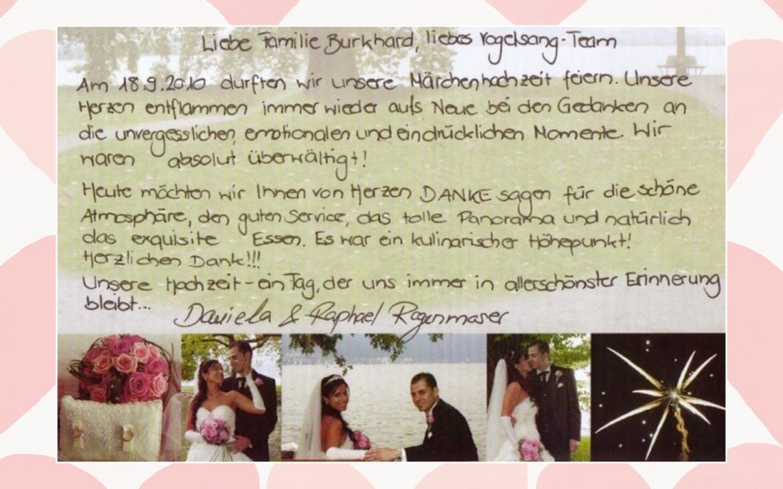 Hochzeits - Dokumentation | Hotel Restaurant Vogelsang in Eich